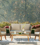 Signature Design by Ashely Crystal Cave 4-Piece Outdoor Furniture Set - Outdoor View