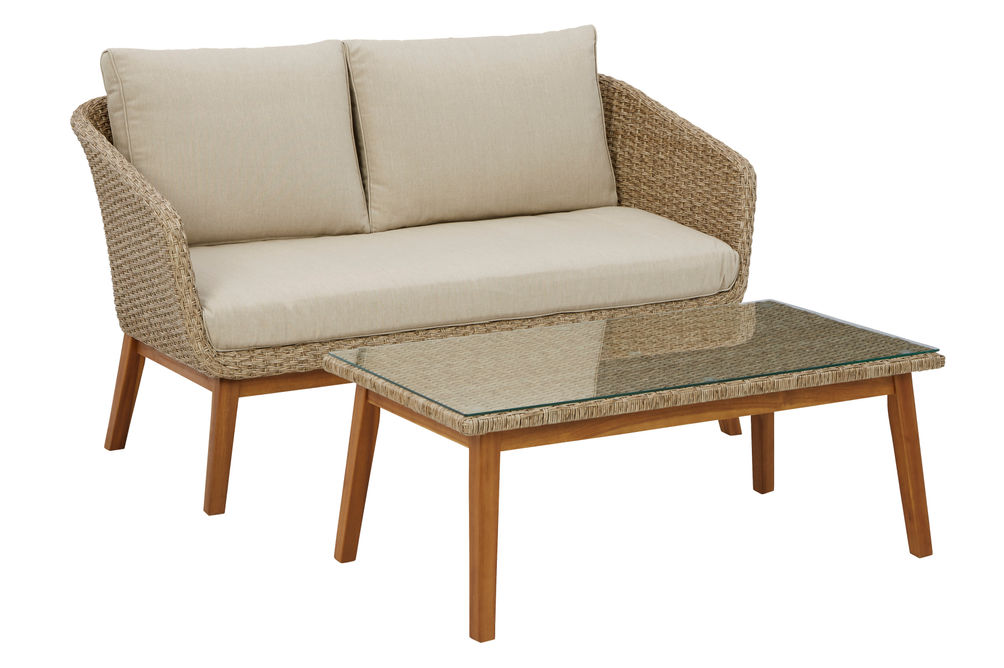 Signature Design by Ashely Crystal Cave - Loveseat and Table