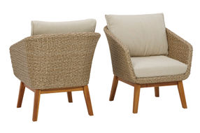 Signature Design by Ashely Crystal Cave Chairs- Front and Back view