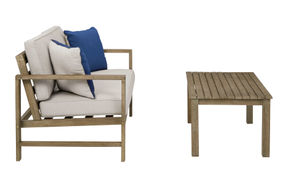Signature Design by Ashley Fynnegan Loveseat and Table - Side View