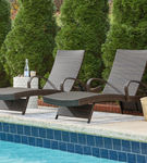 Signature Design by Ashley Kantana Outdoor Chaise Lounge Set of 2 - Outdoor View