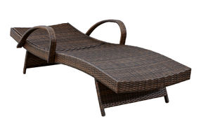 Signature Design by Ashley Kantana Outdoor Chaise Lounge Set of 2 - Reclined View