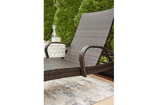 Signature Design by Ashley Kantana Outdoor Chaise Lounge Set of 2 - Alternate View