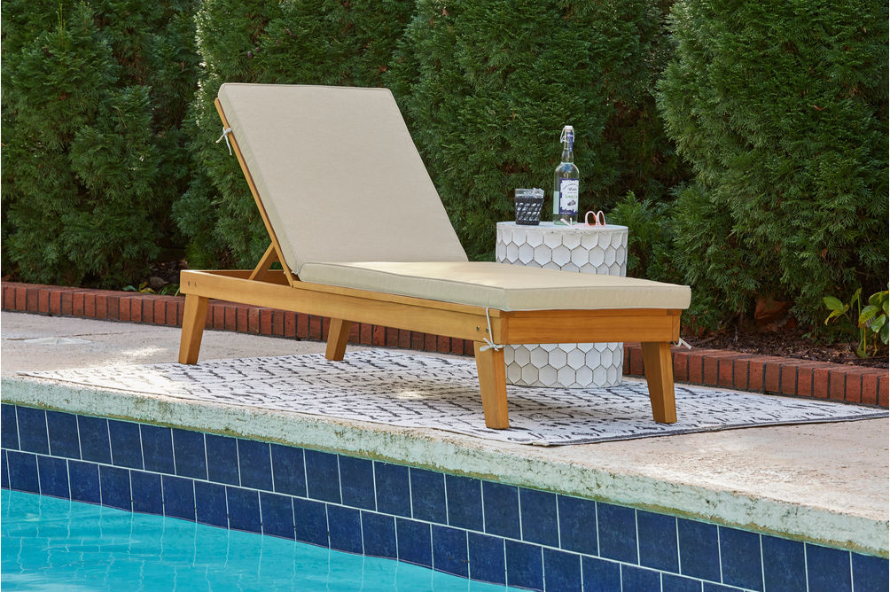 Signature Design by Ashley Byron Bay Outdoor Chaise Lounge Set of 2 - Outdoor View