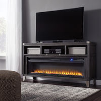 Signature Design by Ashley Todoe 65 Inch Electric Fireplace TV Stand