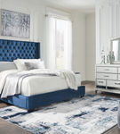 Signature Design by Ashley Coralayne Blue 5-Piece King Bedroom Set - Sample Room View