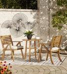 Signature Design by Ashley Vallerie 3-Piece Outdoor Bistro Set - Outdoor View