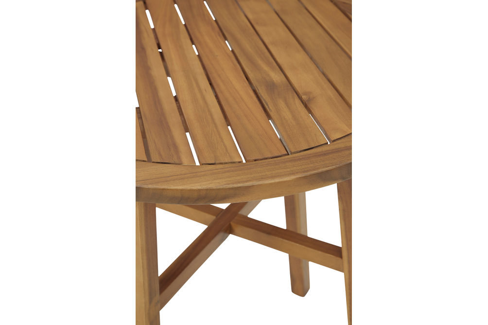 Signature Design by Ashley Vallerie 3-Piece Outdoor Bistro Set - Table Top View