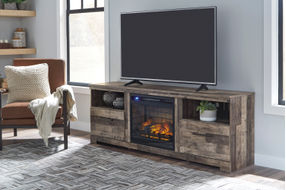Signature Design by Ashley Derekson 72 Inch Electric Fireplace TV Stand - Sample Room View