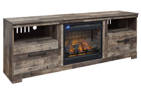 Signature Design by Ashley Derekson 72 Inch Electric Fireplace TV Stand