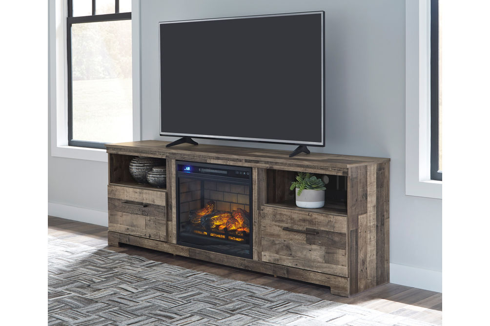 Signature Design by Ashley Derekson 72 Inch Electric Fireplace TV Stand - Alternate View