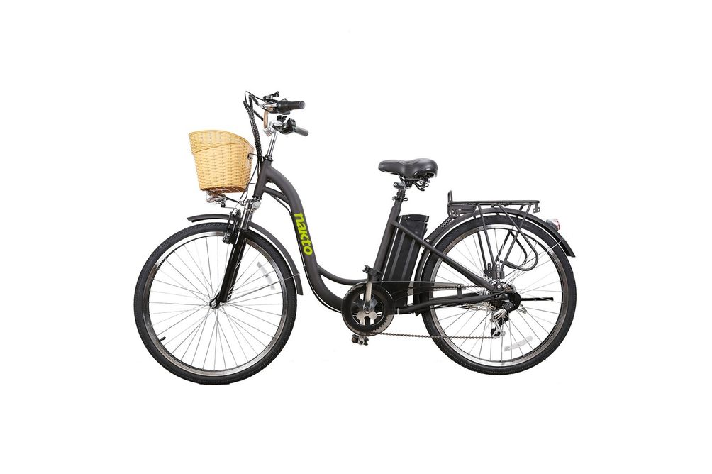 NAKTO Camel Black 26 Inch Women's City Electric Bicycle
