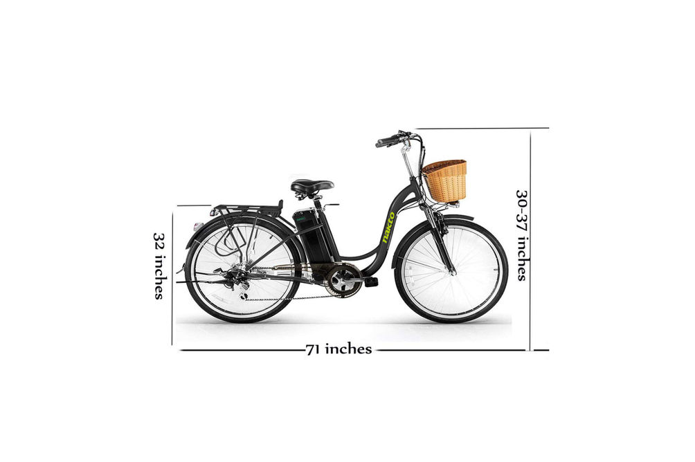 NAKTO Camel Black 26 Inch Women's City Electric Bicycle - Specs