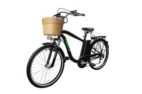 NAKTO Camel Black 26 Inch Men's City Electric Bicycle - Side Angle View