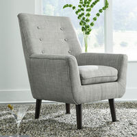 Signature Design by Ashley Zossen- Gray Accent Chair - Sample Room View