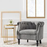 Signature Design by Ashley Deaza Gray Accent Chair - Sample Room View