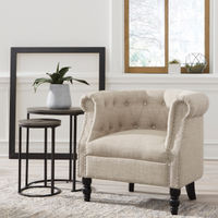 Signature Design by Ashley Deaza Beige Accent Chair - Sample Room View