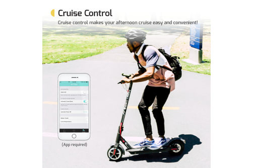 Swagtron Swagger 5 Elite Electric Smart Scooter - Cruise Control Feature