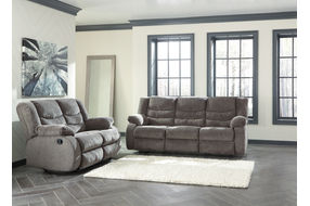 Signature Design by Ashley Tulen-Gray Reclining Sofa and Loveseat- Reclining