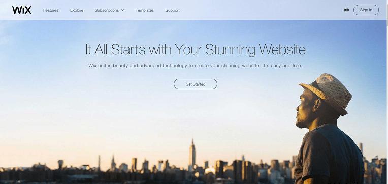 eCommerce hosting - WIX