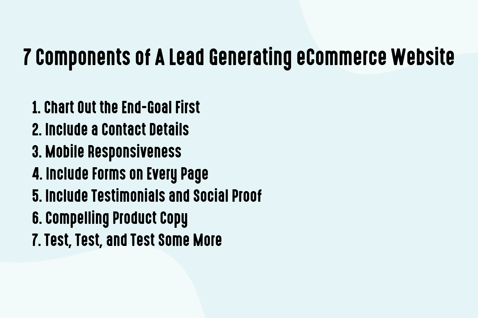 7 Components of A Lead Generating eCommerce Website
