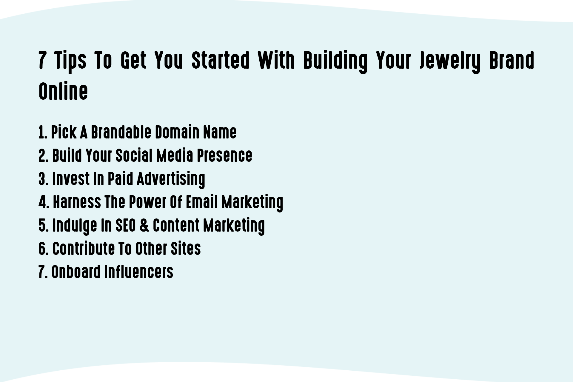 7 Tips To Get You Started With Building Your Jewelry Brand Online