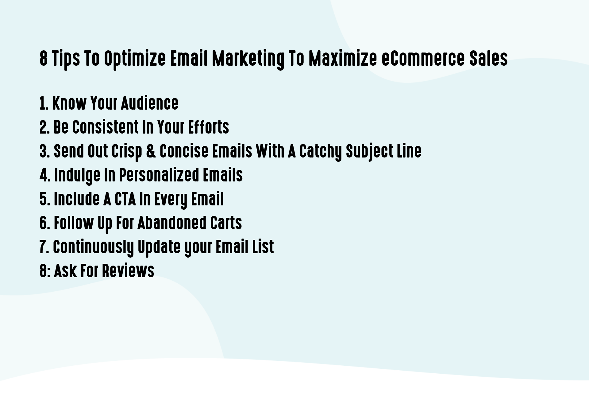 8 Tips To Optimize Email Marketing To Maximize eCommerce Sales