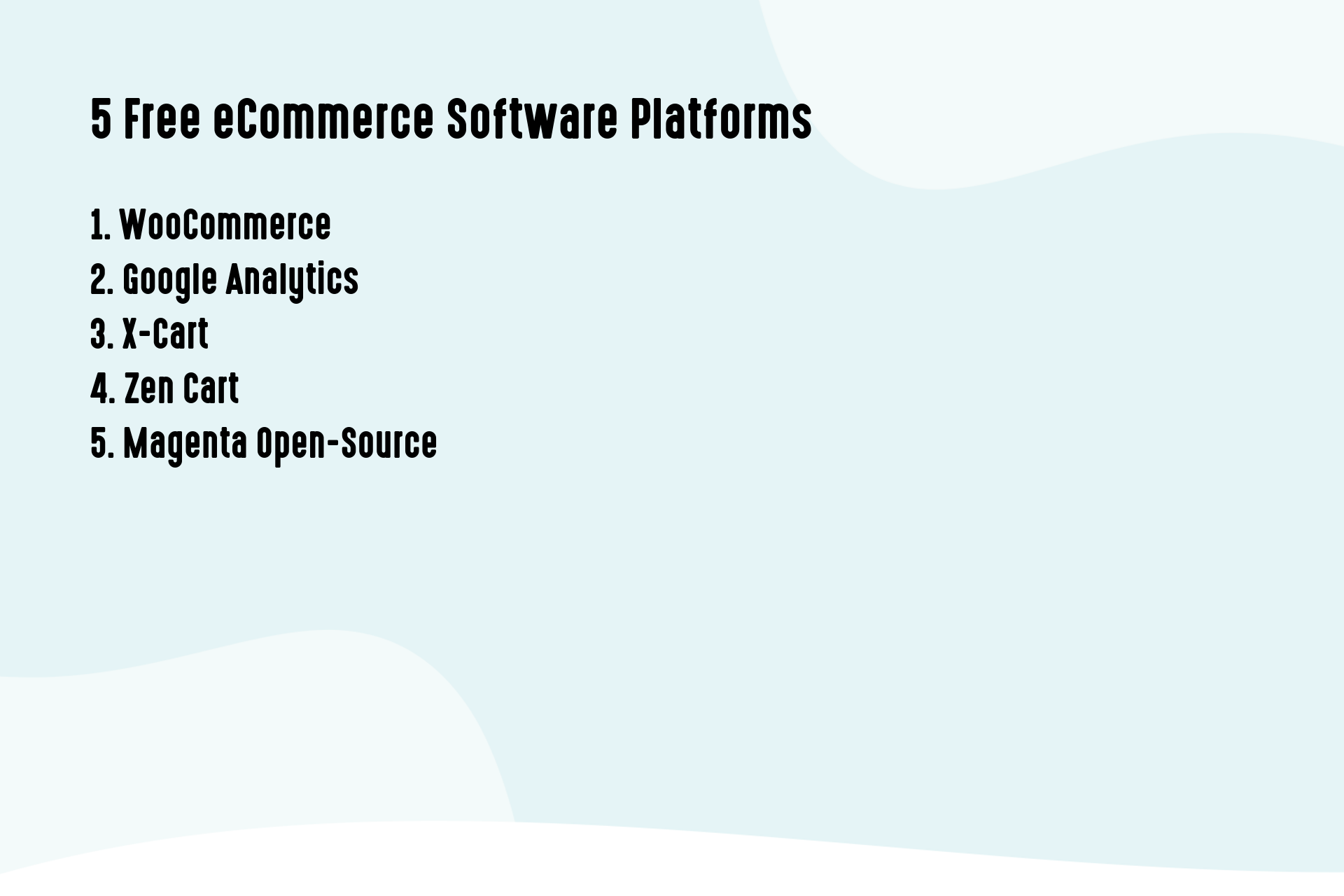 5 Free eCommerce Software Platforms