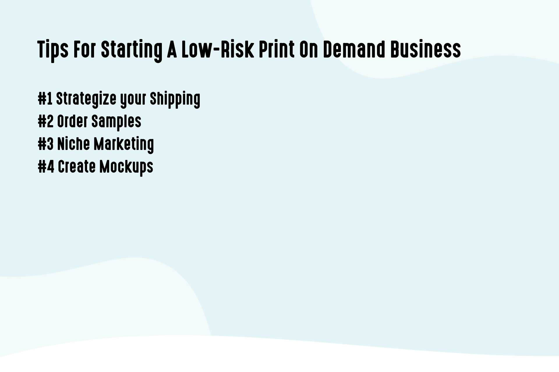 Tips For Starting A Low-Risk Print On Demand Business