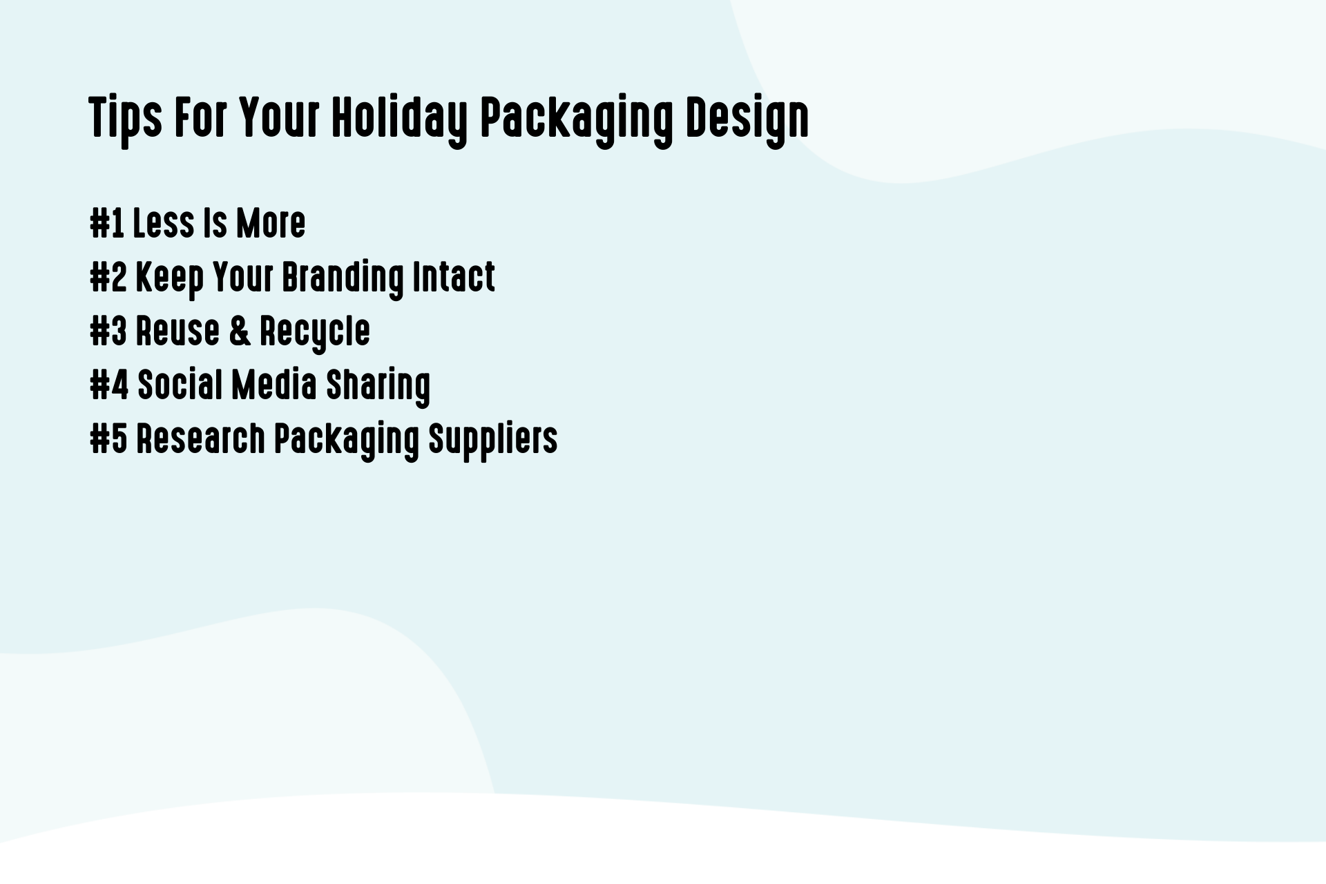 Tips For Your Holiday Packaging Design