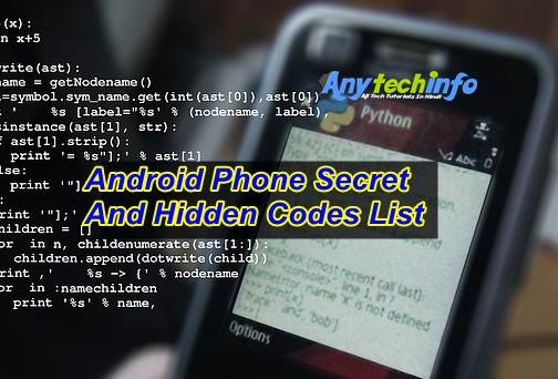 Android Phone Secret And Hidden Codes
