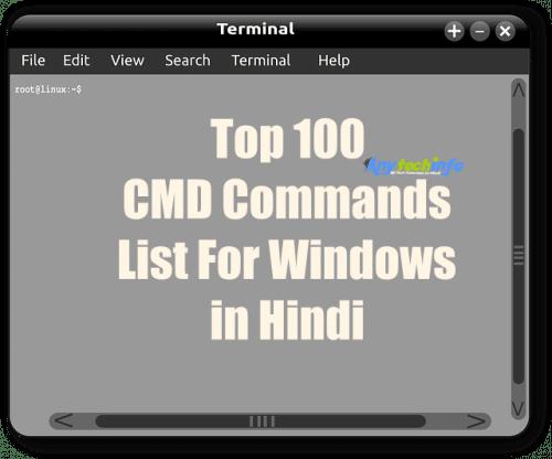 CMD Commands List