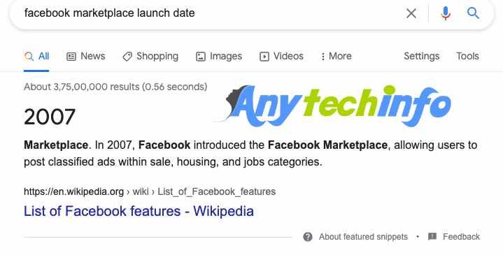 Facebook Marketplace launch Date
