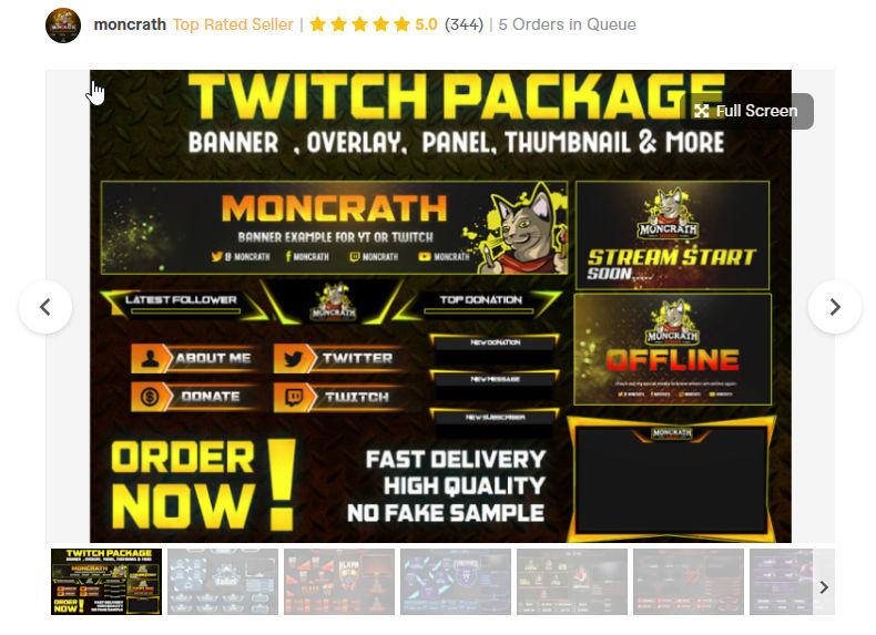 custom twitch overlay designer