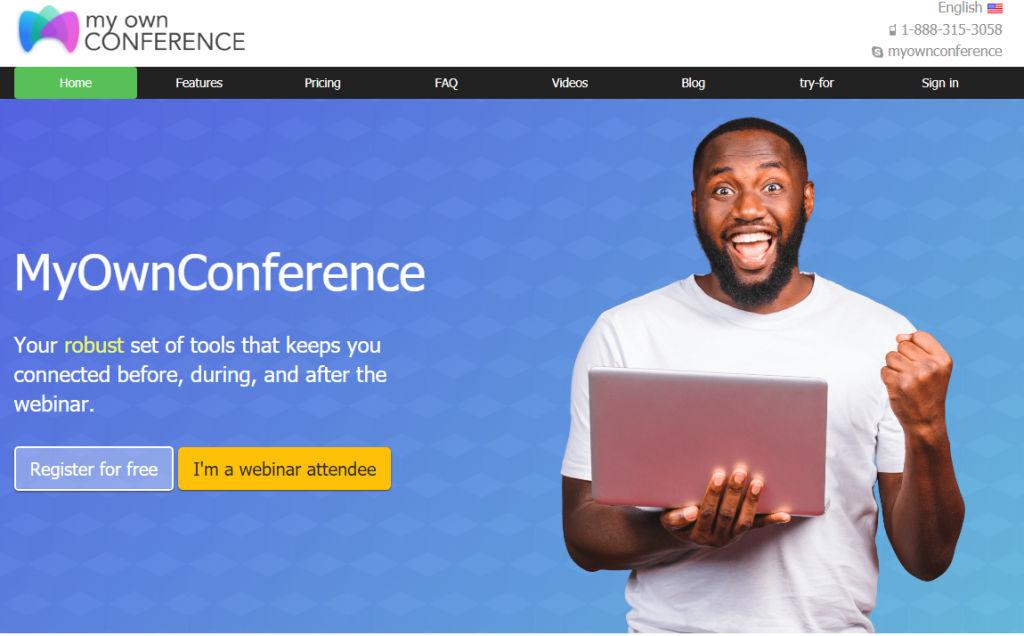 myownconference homepage
