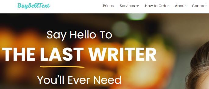 Buyselltext.com homepage