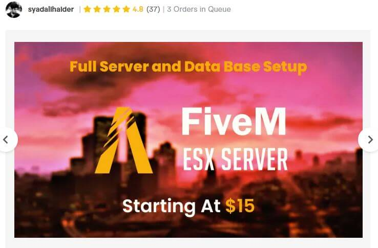 Custom FiveM Roleplay ESX Server For Sale