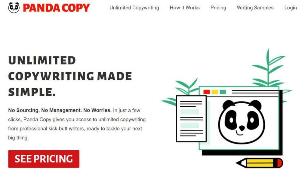 Pandacopy.com homepage
