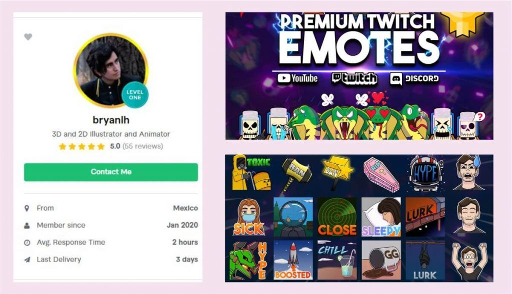 Twitch Emote Artist Budget-Friendly