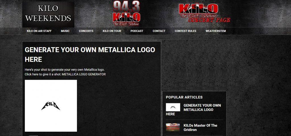 kilo943 Mettalica logo generator