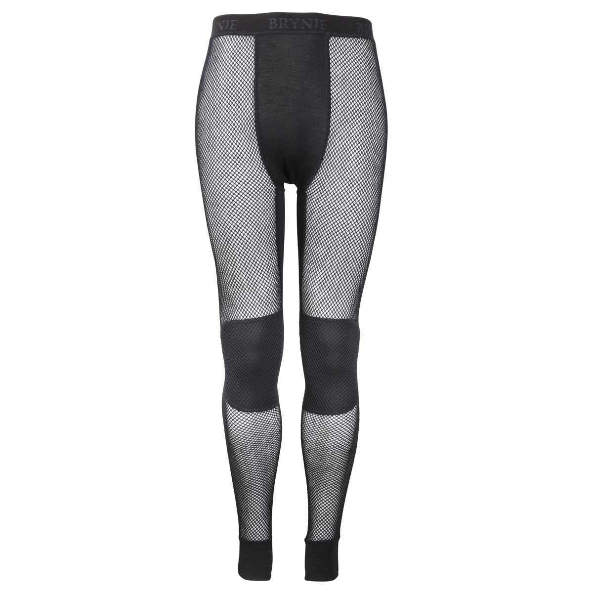 Brynje Wool Thermo Longs with Knee Inlay - Black