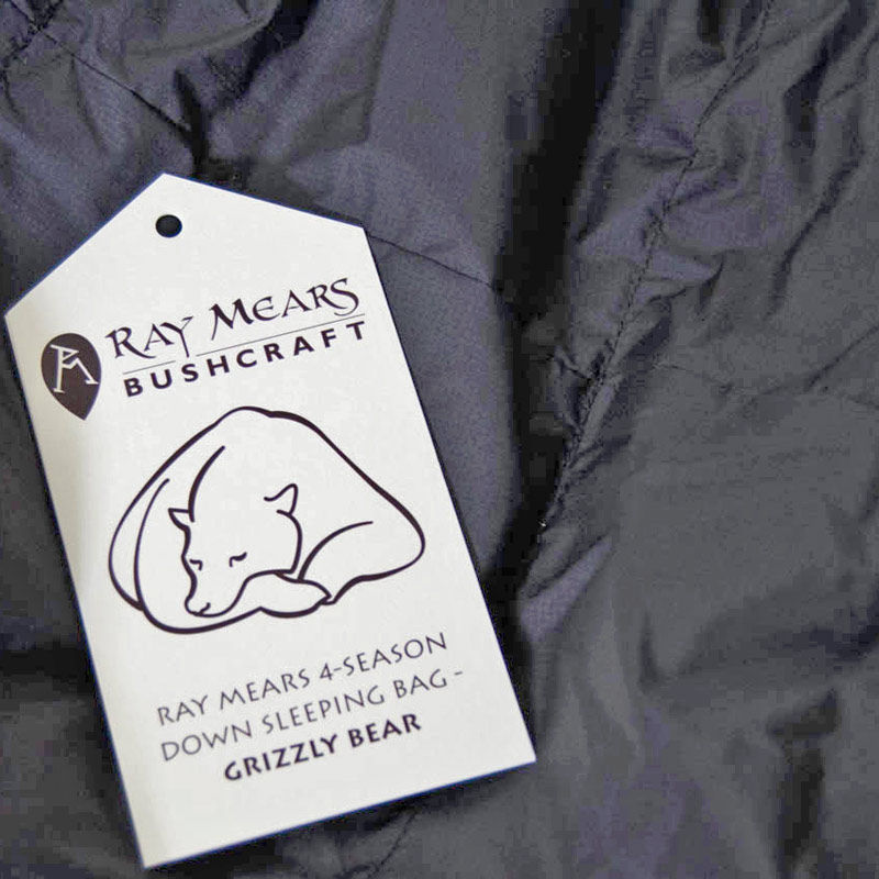 Ray Mears 4-Season Down Sleeping Bag - Grizzly Bear