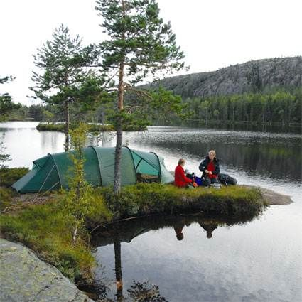 The Hilleberg Kaitum 3 Man GT Tent in use