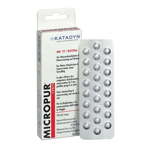 Katadyn Micropur Forte MF 1T Water Purification Tablets - 100 Tablets