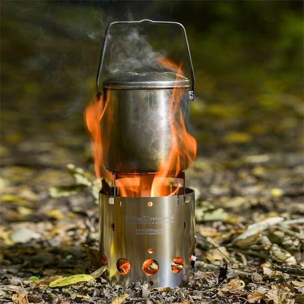 Littlbug Junior Stove (pictured with the Zebra Stainless Steel Billy Can - 12 cm)