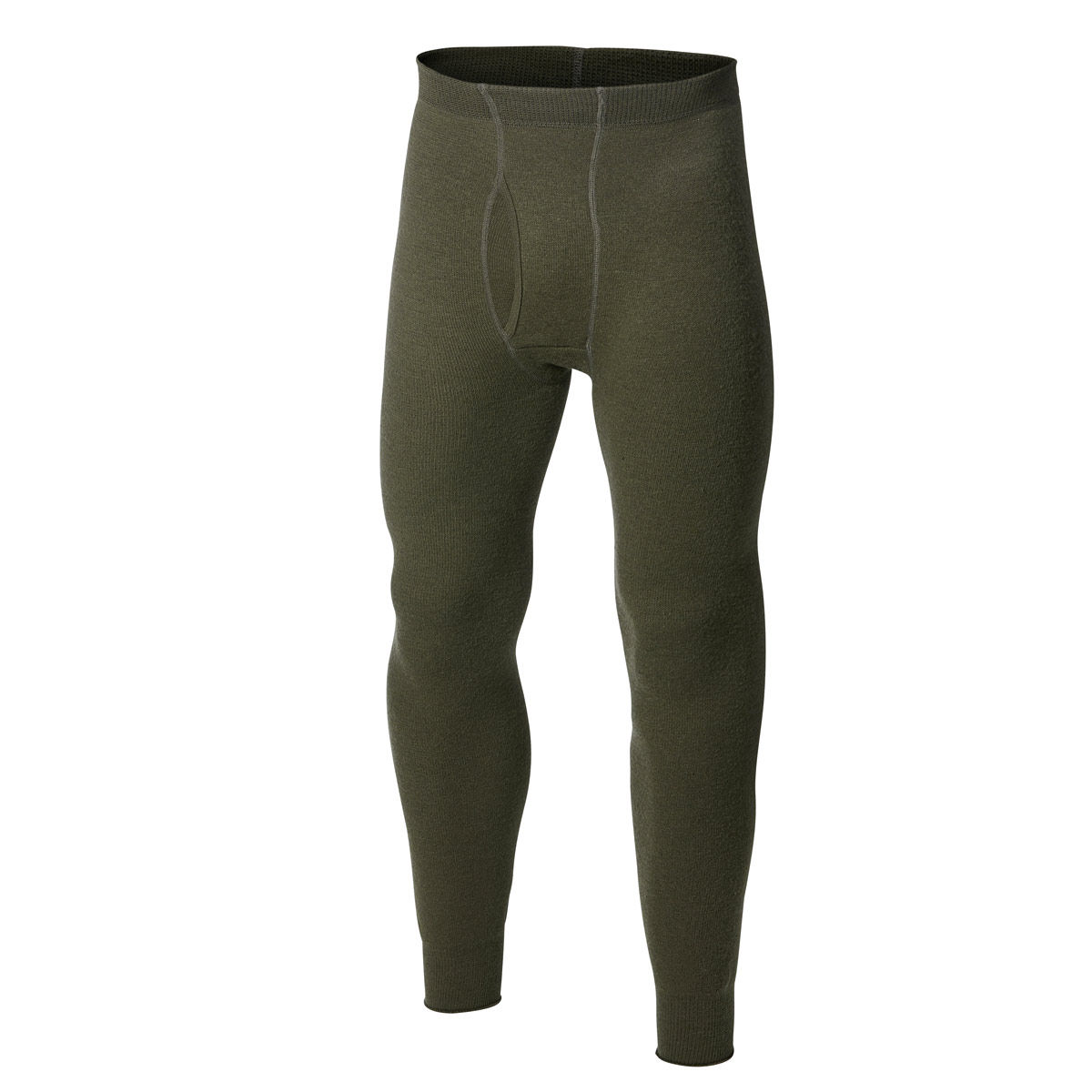 Woolpower Ullfrotte Original Long Johns with Fly - 200g - Green