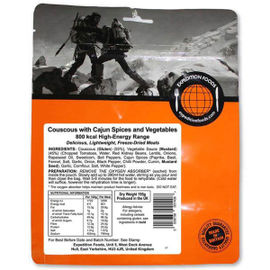 Expedition Foods - Couscous with Cajun Spices and Vegetables (High Energy Serving) - Pack of 2