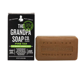 Grandpa's Wonder Pine Tar Soap 3.25oz - Pack of 4