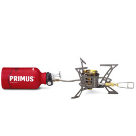 Primus OmniLite Ti with bottle and pouch