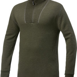 Woolpower Ullfrotte Original Zip Turtleneck - 400g - Pine Green